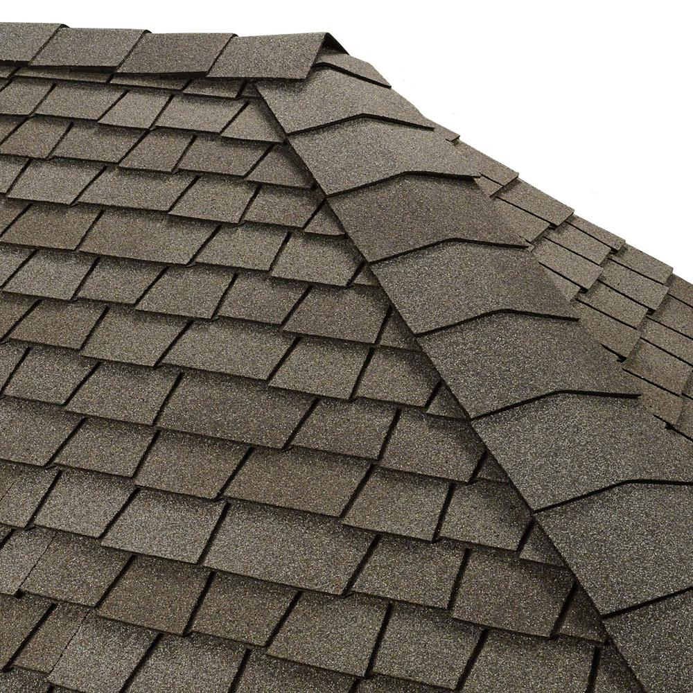 GAF Timbertex Antique Slate Double-Layer Hip and Ridge Cap Roofing Shingles (20 lin. ft. per Bundle) (30-pieces)