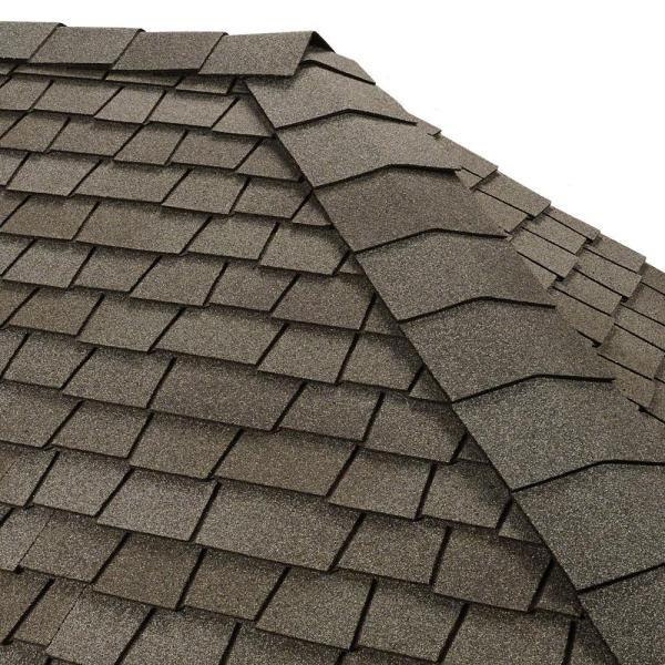 Timbertex Antique Slate Double-Layer Hip and Ridge Cap Roofing Shingles (20 lin. ft. per Bundle) (30-pieces)