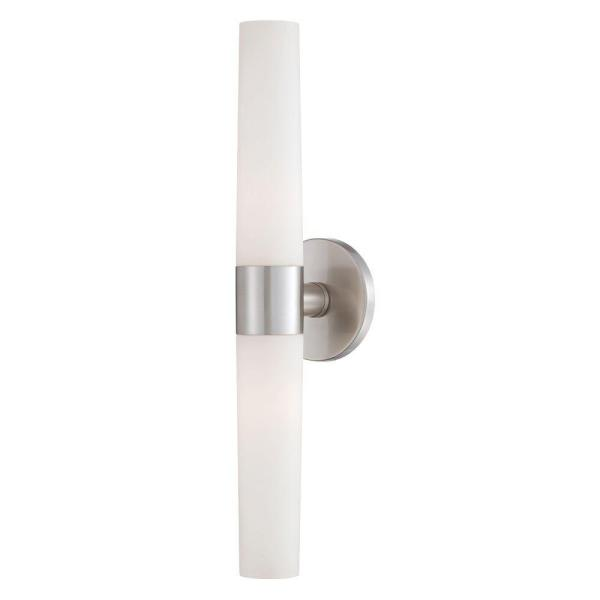 Vesper Collection 2-Light Brushed Nickel Wall Sconce