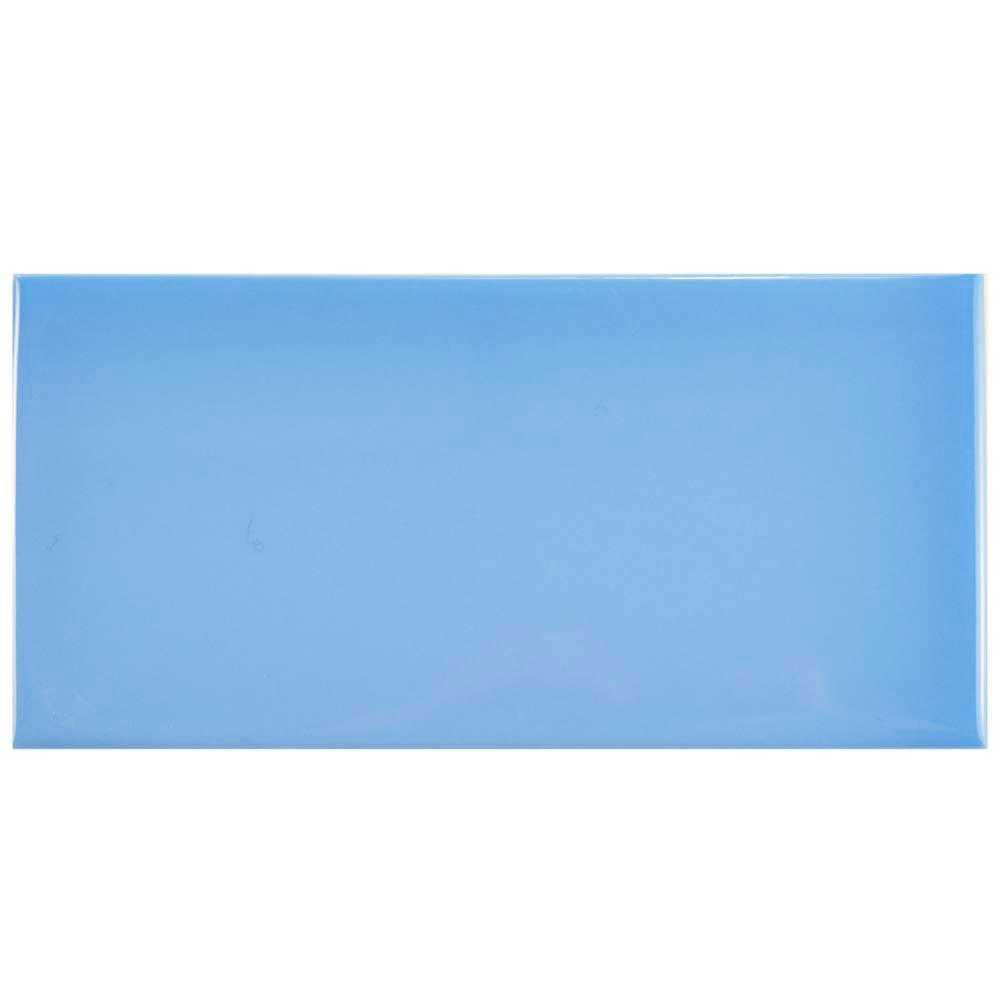 Park Slope Subway Calm Blue 3 in. x 6 in. Ceramic