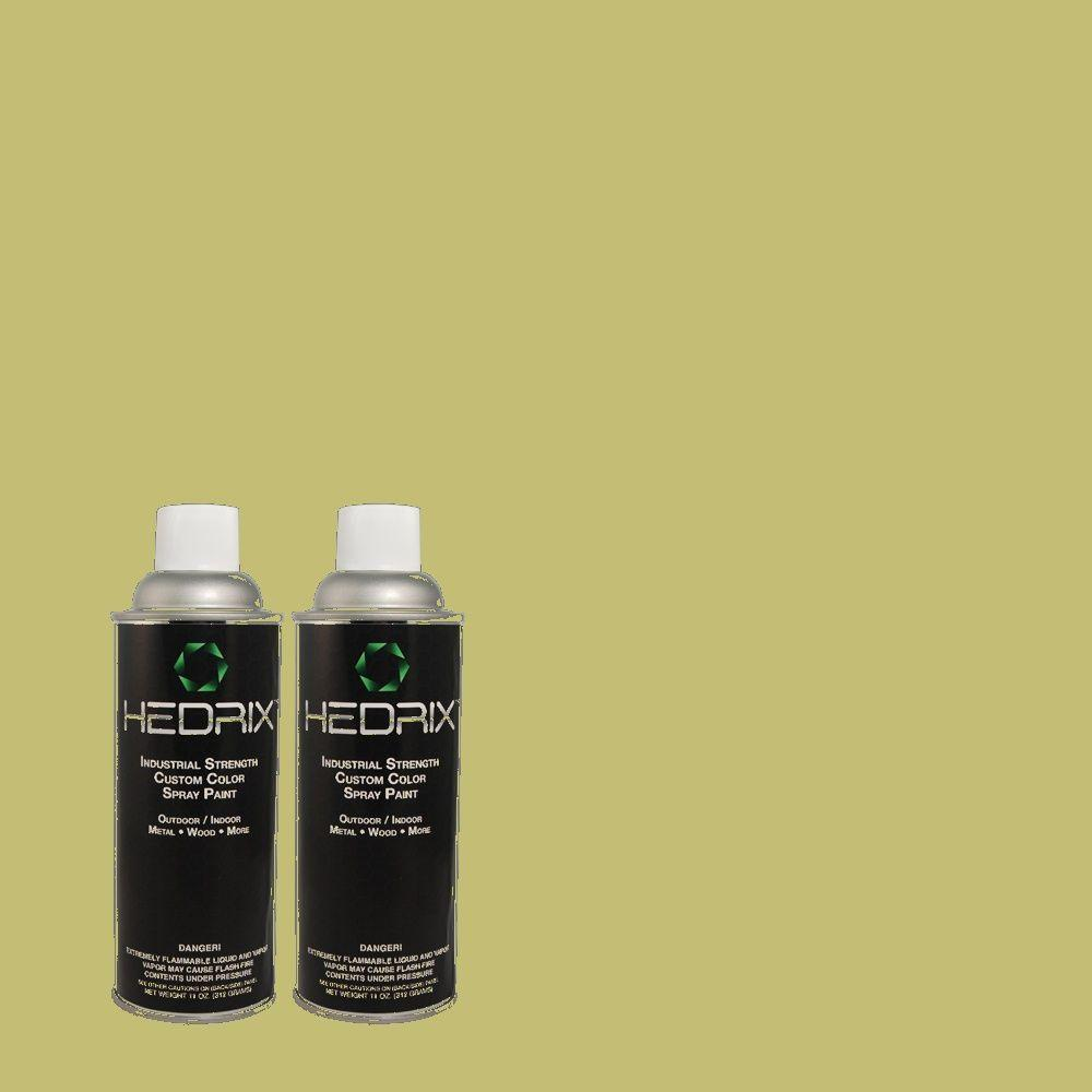 Hedrix 11 oz. Match of Grass Cloth 400D-5 Gloss Custom Spray Paint (2-Pack)