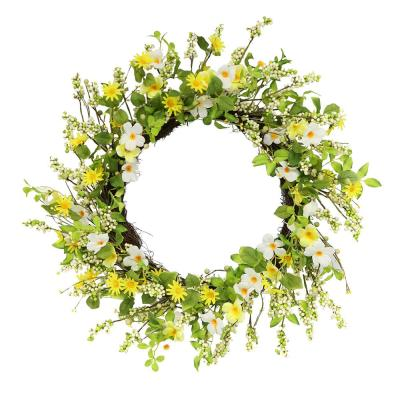 30 in. Artificial Daisy and Dogwood Wreath