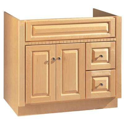 36 in. W x 21 in. D Vanity Cabinet Only in Maple