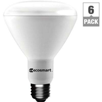 65-Watt Equivalent Soft White BR30 Dimmable LED Light Bulb (6-Pack)