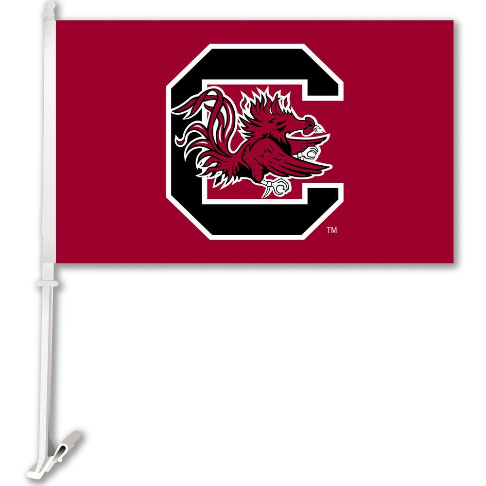 Ncaa 11 in. x 18 in. South Carolina 2-Sided Car Flag with 1-1/2 ft. Plastic Flagpole (Set of 2)
