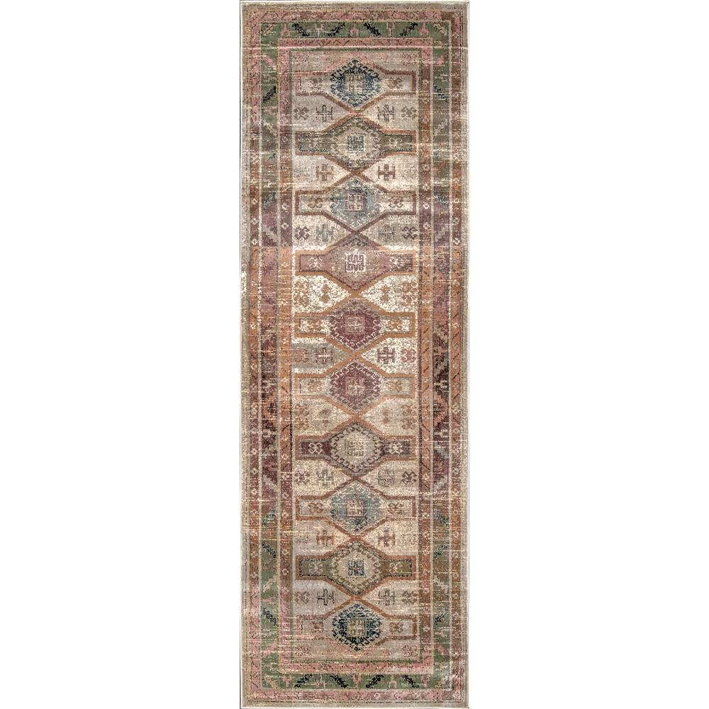 nuLOOM Traditional Monica Tribal Beige 2 ft. 8 in. x 8 ft. Runner Rug
