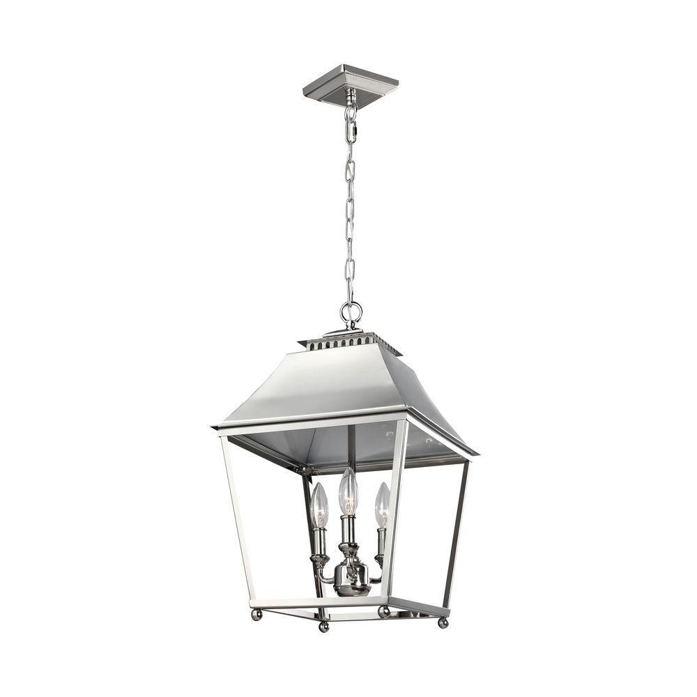 Galloway 3-Light Polished Nickel Indoor Pendant