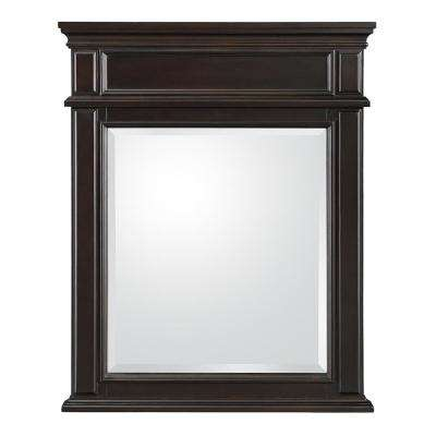 Kenbridge 26 in. W x 32 in. H Wall Mirror in Burnished Walnut