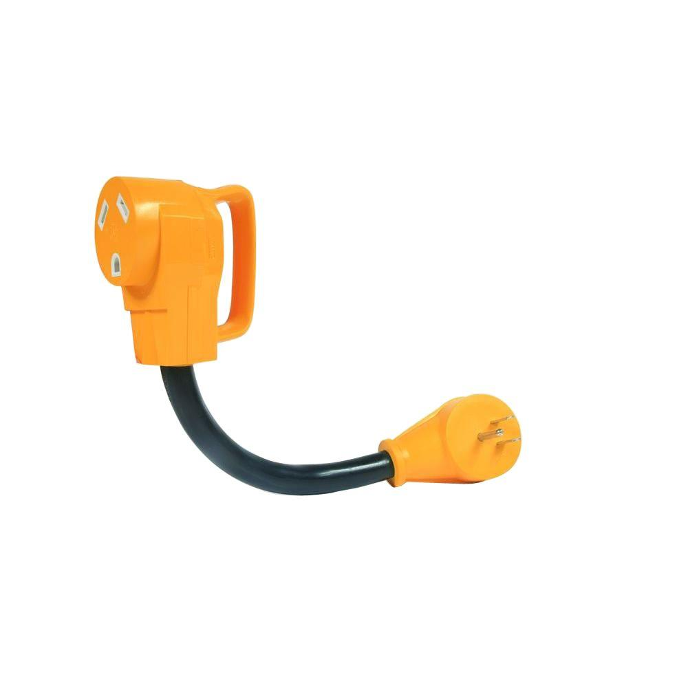 Camco 12 in. Power Grip Dogbone Electrical Adapter with Easy Grip Handle