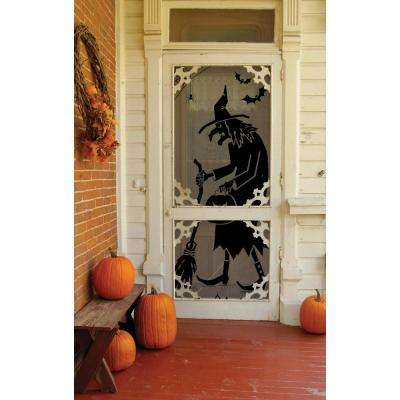 Semi-Opaque Witch 38 in. L Polyester Valance in Black