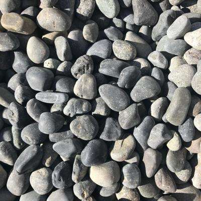 0.90 cu. ft., 75 lb., 1/2 in. to 1 in. Black Mexican Beach Pebble (40-Bag Contractor Pallet)