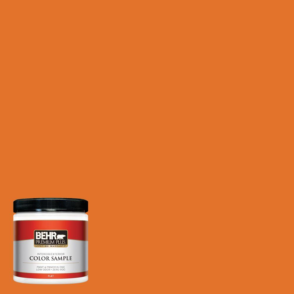 BEHR Premium Plus 8 oz. #250B-7 Crushed Orange Interior/Exterior Paint Sample
