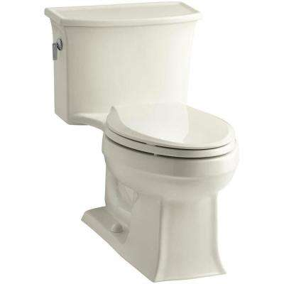 Archer 1-piece 1.28 GPF Single Flush Elongated Toilet in Biscuit