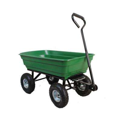 4 cu. ft. 20 in. W Plastic Utility Cart