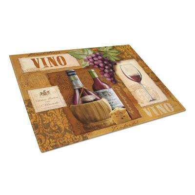 Vino Wine Tempered Glass Large Cutting Board