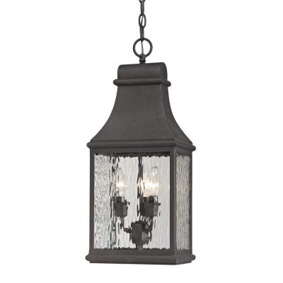 Worcester Forge Collection 3-Light Charcoal Outdoor Pendant