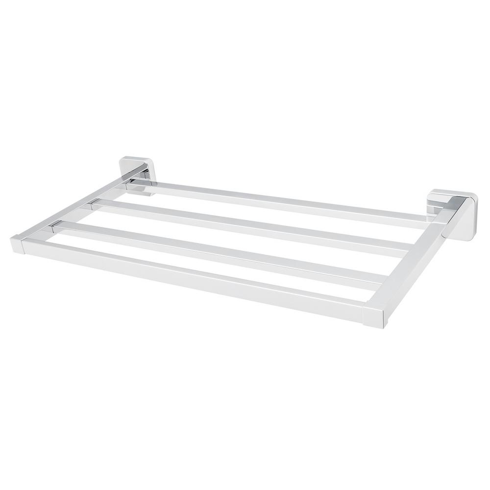 Kubos 4-Bar Wall-Mounted Towel Rack in Polished Chrome