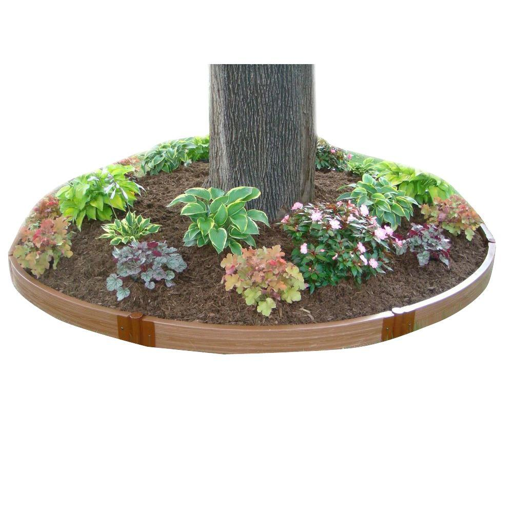 Frame It All One Inch Series 6.5 ft. dia. x 5.5 in. Composite Tree Ring Raised Garden Bed Kit