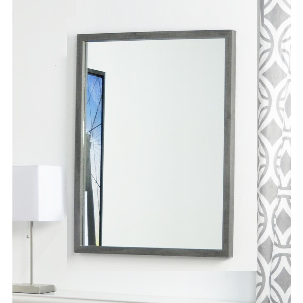 Minimal Rectangle Slate Gray 17.5 in. x 23 in. Decorative Wall