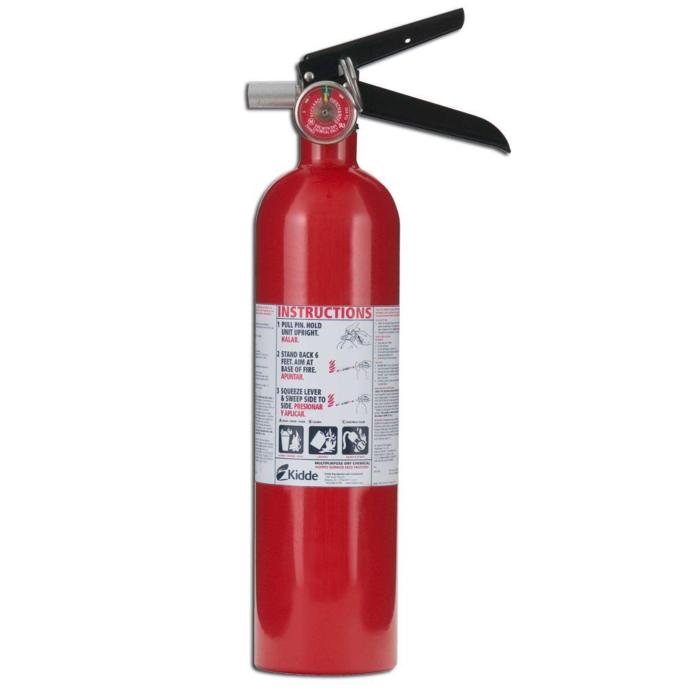 Kidde Pro 1a10 B C Fire Extinguisher 21005776 The Home Depot