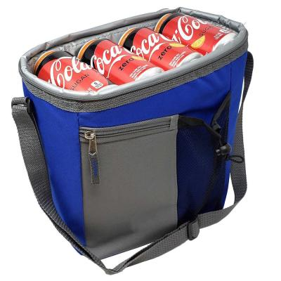 18-Can Cooler Insulated Lunch Bag With Adjustable Shoulder Straps and Zipper Front Open Pockets