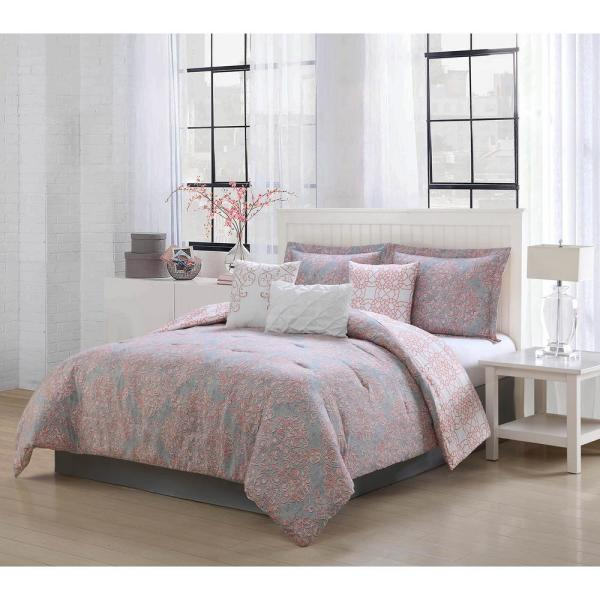 Magic Reversible 7-Piece Queen Comforter Set YMZ007601