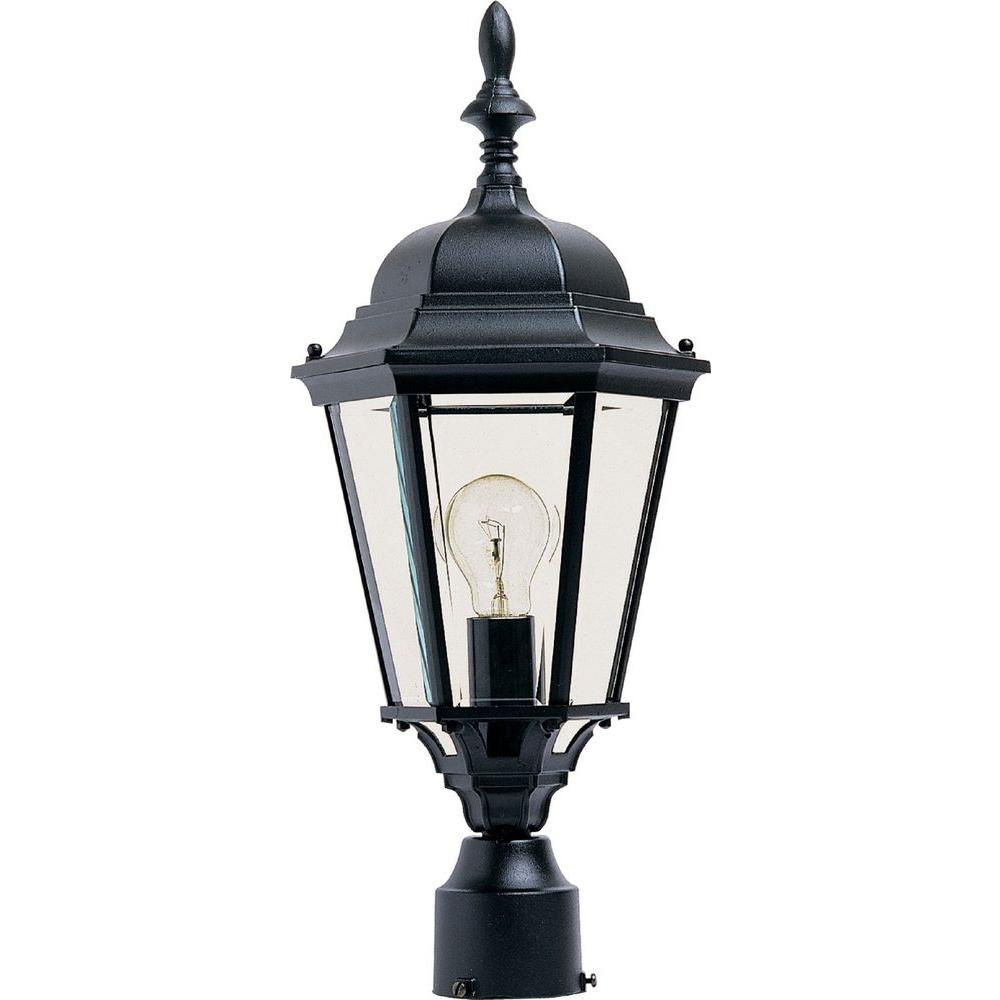 Westlake 1 Light Black Outdoor Pole Post Mount