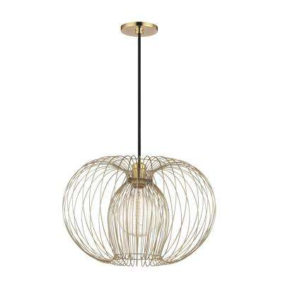 Jasmine 1-Light Polished Brass Large Pendant