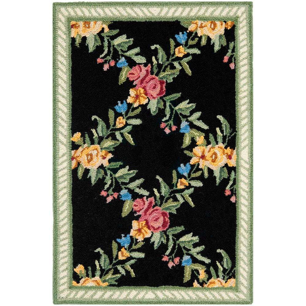 Safavieh Chelsea Black 1 ft. 8 in. x 2 ft. 6 in. Area Rug