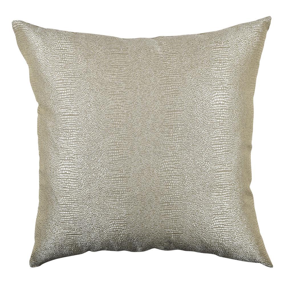 Paradise Gold Designer Throw Pillow