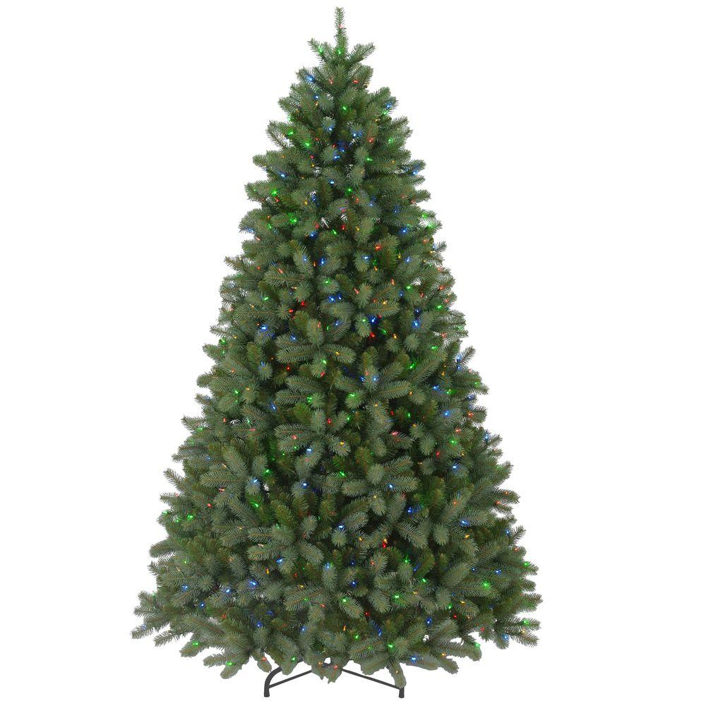 Real Christmas Trees Lowes: 9 Ft. FEEL-REAL Downswept Douglas Fir Artificial Christmas