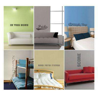 54 in. x 22 in. Sports Phrases Wall Decal