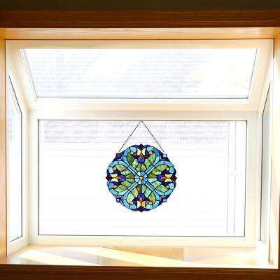 Multi Stained Glass Mini Halston Window Panel