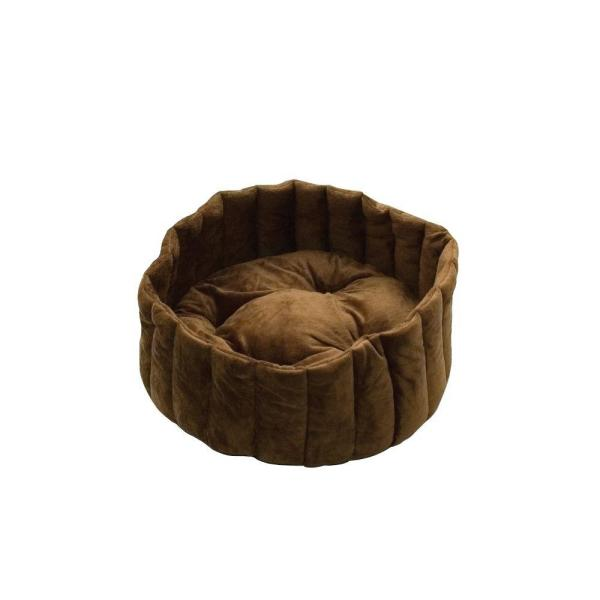 Lazy Cup Small Tan/Mocha Cat Bed