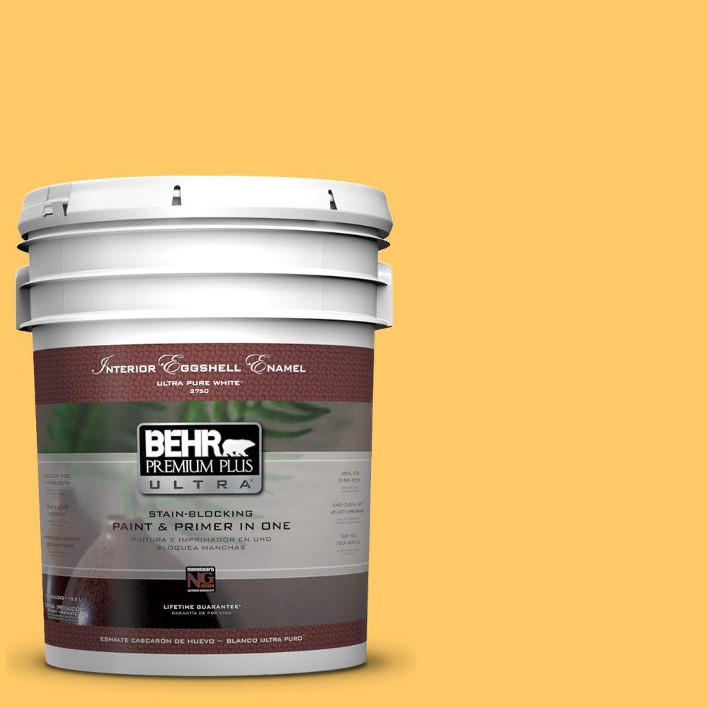 BEHR Premium Plus Ultra 5-gal. #P270-5 Fuzzy Duckling Eggshell Enamel Interior Paint