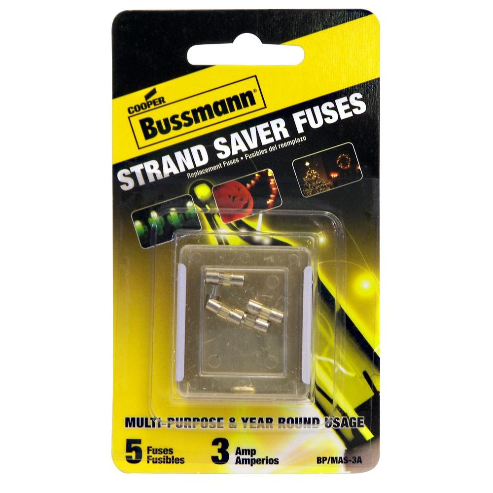 cooper bussmann holiday mini light fuse 5 pack - Christmas Light Fuse