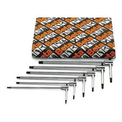 5/32 in., 3/16 in., 7/32 in., 1/4 in., 5/16 in. and 3/8 in. T-Handle Hex Key Wrench SAE (Set of 6-Pieces)