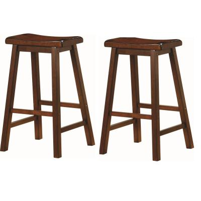 Wooden 29 in. Bar Stools Chestnut (Set of 2)
