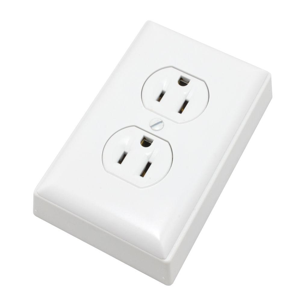 Legrand Wiremold Non-Metallic PVC Raceway 15 Amp Duplex Receptacle Box Kit with Faceplate and Outlet, White