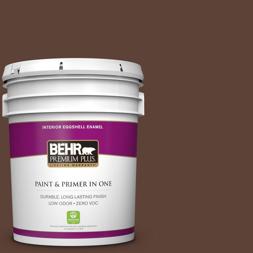 5 gal. #180F-7 Warm Brownie Zero VOC Eggshell Enamel Interior Paint
