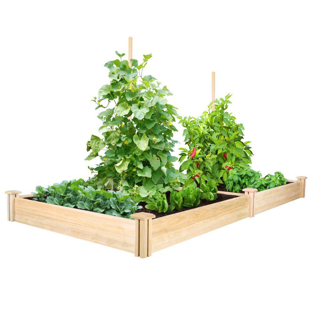 4 ft. x 8 ft. x 7 in. Cedar Raised Garden Bed