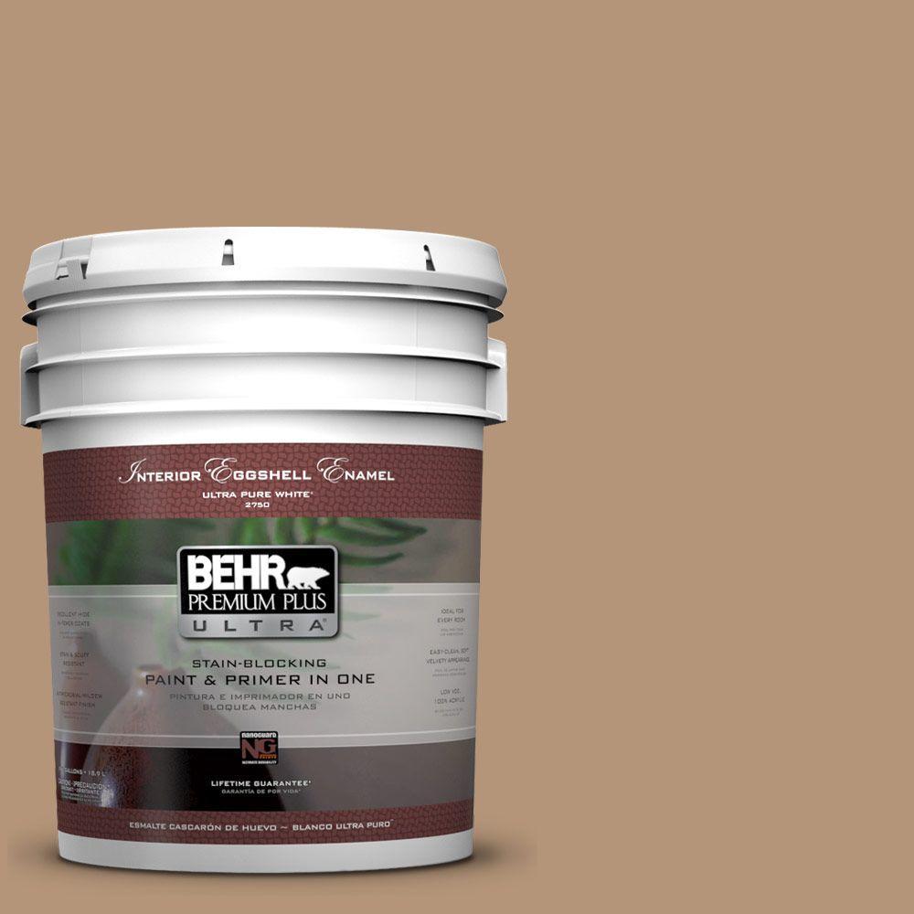 BEHR Premium Plus Ultra 5-gal. #280F-4 Burnt Almond Eggshell Enamel Interior Paint