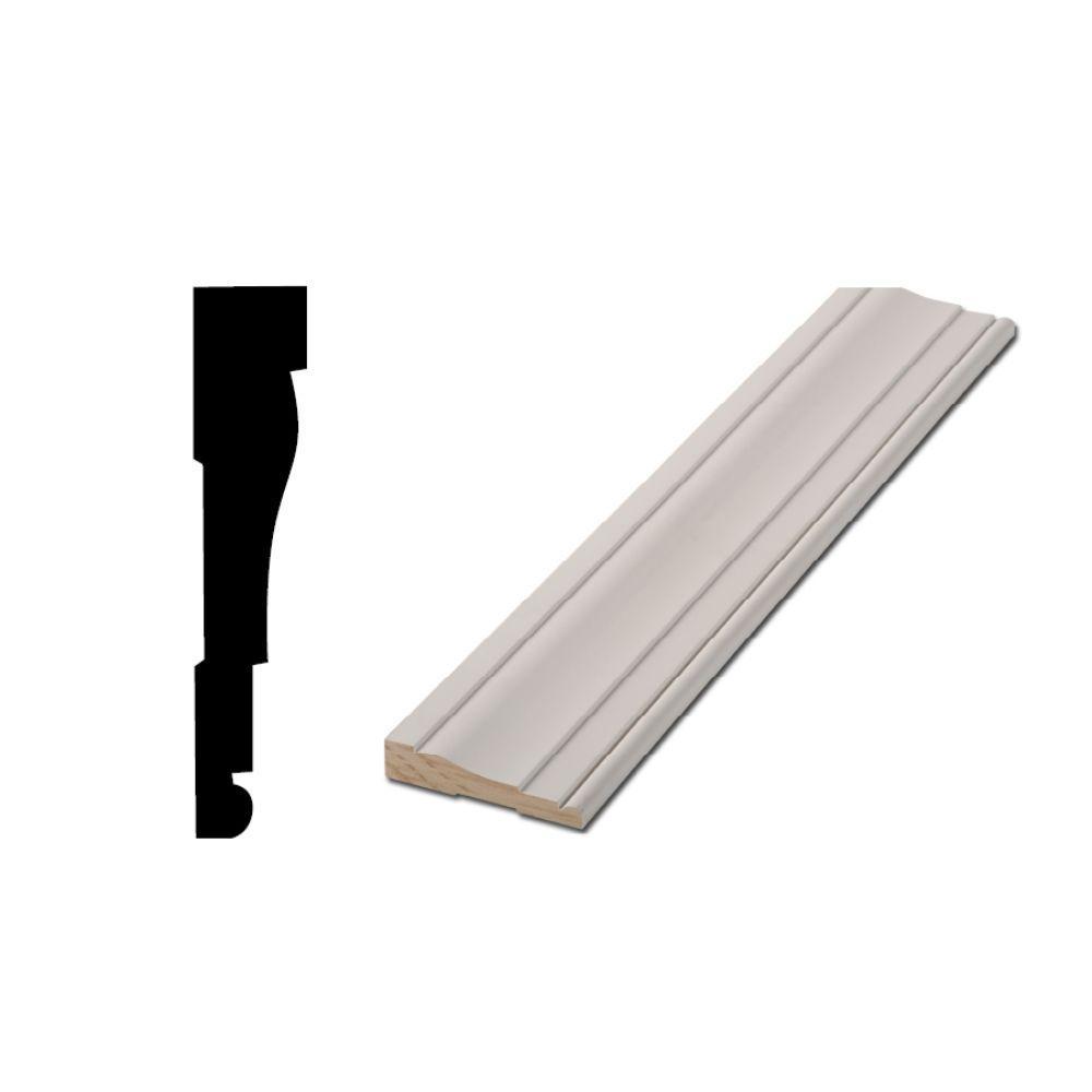 Woodgrain Millwork LWM 445 5/8 in. x 3-1/4 in. x 96 in. Primed Finger-Jointed Casing