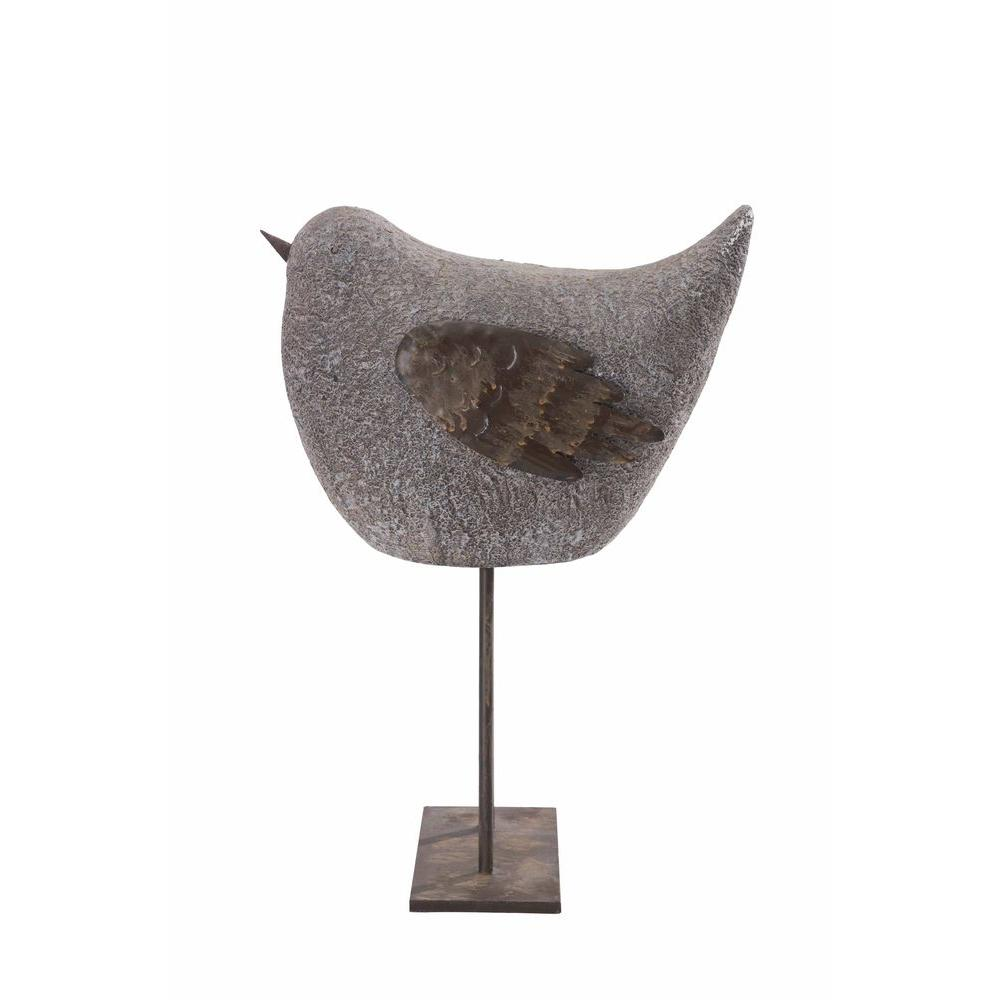 Whimsical Sparrow Garden Statue