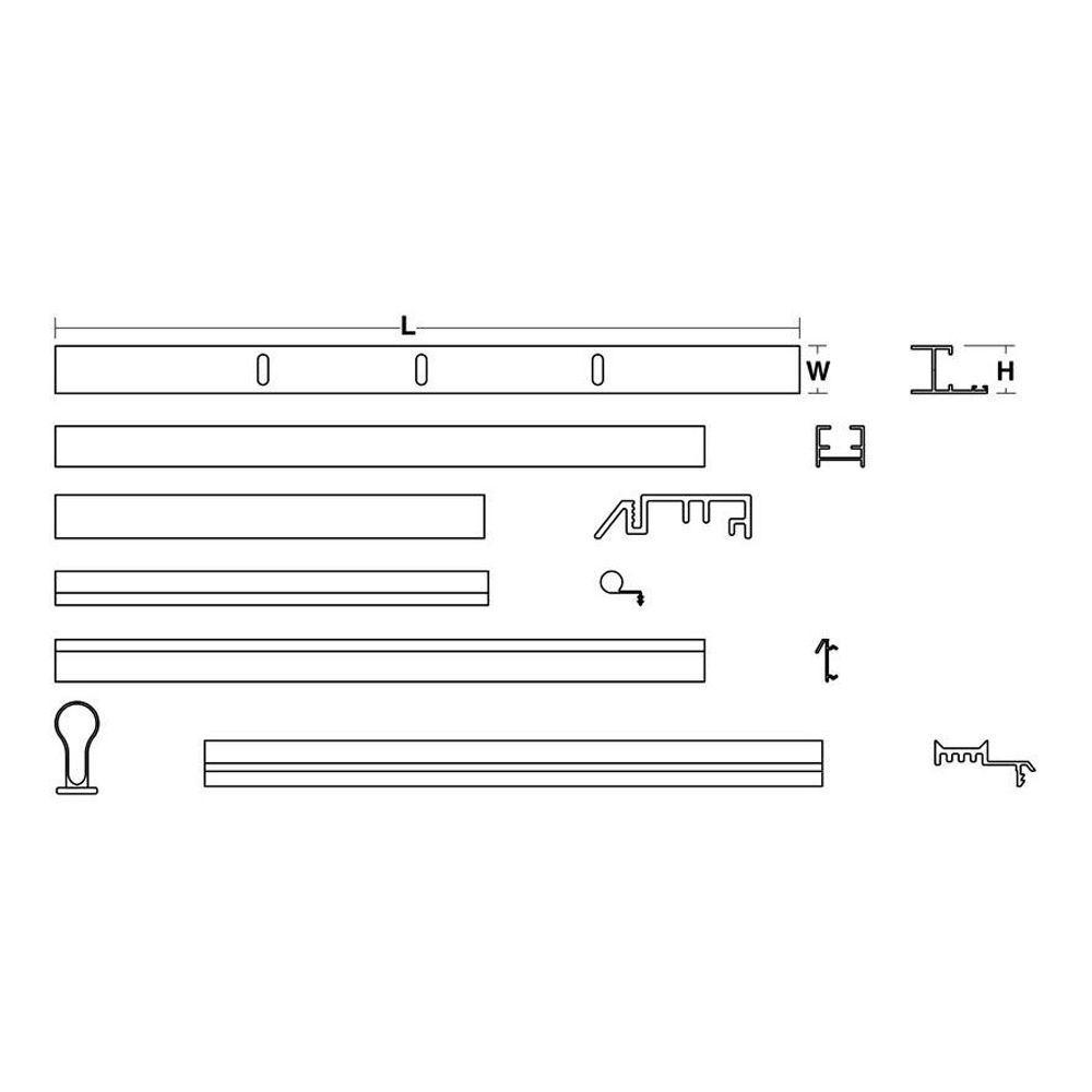 30 in. x 40 in. Pivot Door Assembly Kit