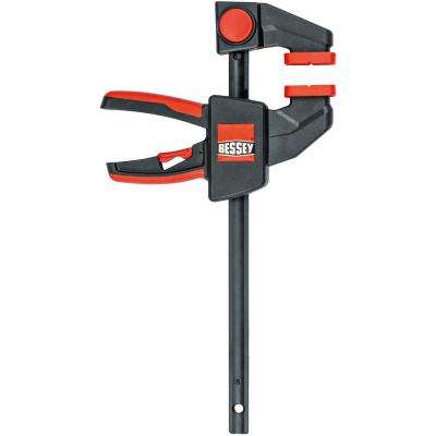 12 in. Capacity Medium Trigger Clamp with 2-3/8 in. Throat and 100 lbs. Clamping Force