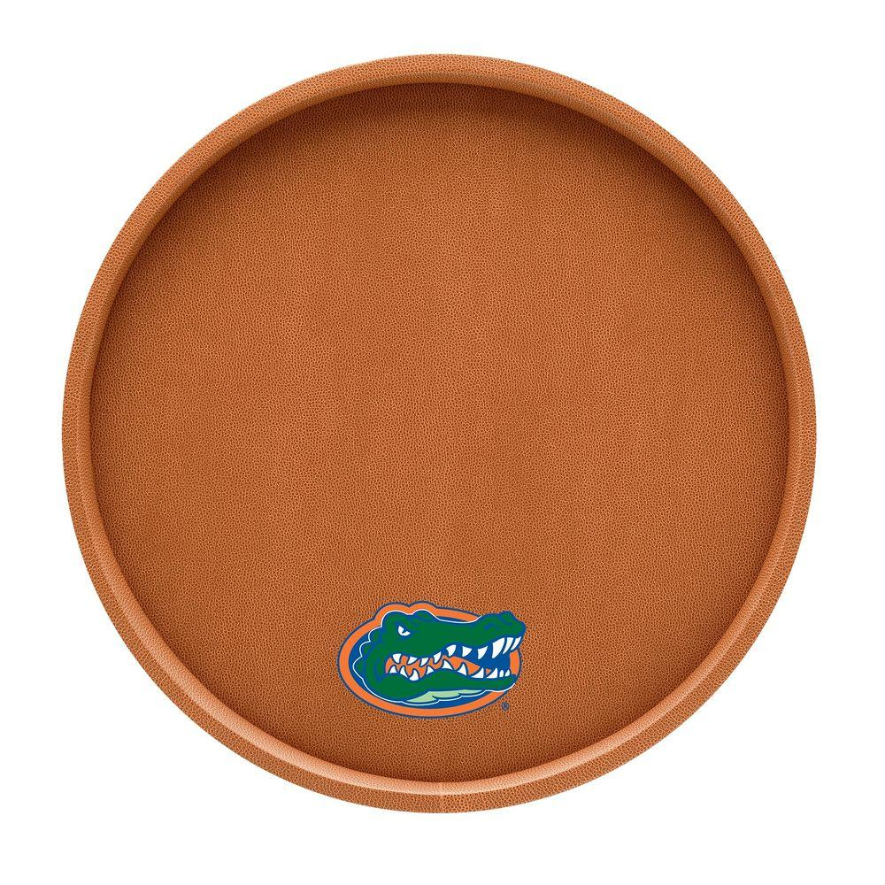 Kraftware Florida 14 in. Basketball Texture Deluxe Round Serving Tray