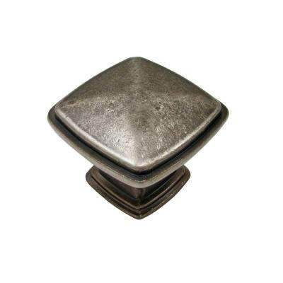 1-1/8 in. Pewter Cabinet Knob