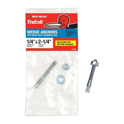 1/4 in. x 2-1/4 in. Steel Hex-Nut-Head Wedge Anchor