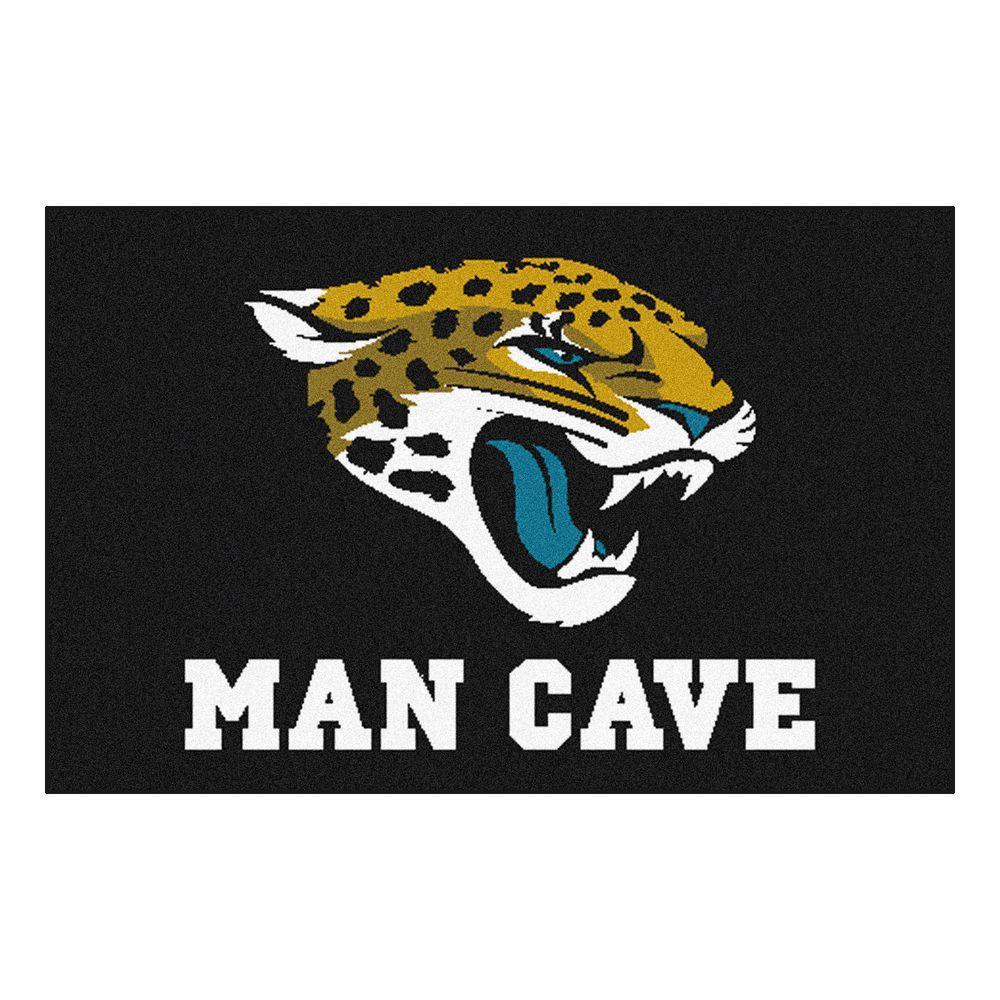 Fan Mats NFL Jacksonville Jaguars Black Man Cave 1 ft. 7 ...